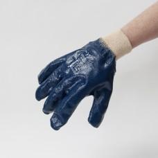 Nitrile Lightweight Dip Knit Wrist Blue