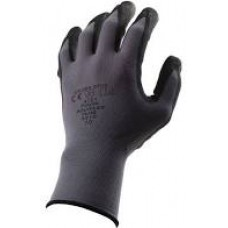 Black & Grey Gripster Gloves Size 8