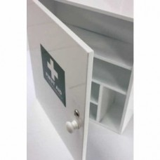 White Metal First Aid Cabinet Empty