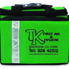 TK Green Sports First Aid Bag Branded Empty