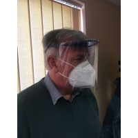 Protective Face Shield With Clear  Cover