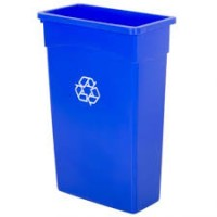 Wall Hugger Recycle Bin Blue