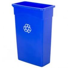 Wall Hugger Recycle Bin Blue